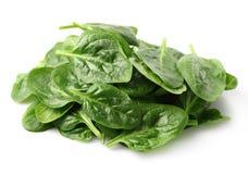 Rozsypisko szpinaków liście Zdjęcie Stock