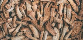 Rozsypisko wysuszeni chlebowi kawałki Obraz Royalty Free