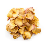 Rozsypisko wysuszeni kolor żółty róży płatki zdjęcie stock