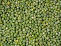 rozsypisko zieleni grochy obraz stock
