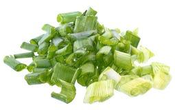 Rozsypisko zielona cebula Zdjęcie Stock