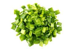 Rozsypisko zielone cebule odizolowywać na bielu Obraz Royalty Free