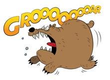 Rozszalały działający brown niedźwiedź Obraz Stock