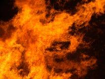 Rozszalały ogień, płomienia szczegół Obrazy Stock