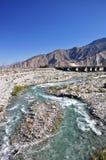 Rozszalała Pustynna rzeka Obrazy Royalty Free