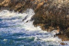 Rozszalały morze Crete Grecja Zdjęcie Stock