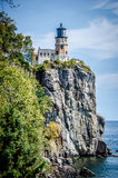 Rozszczepiona Rockowa Latarnia morska Obrazy Royalty Free