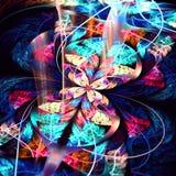 Rozszczepionego elliptice colourfull motyli nieskończony fractal fotografia royalty free