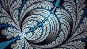 Rozszczepionego elliptice motyli nieskończony fractal obraz stock