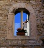 Rozszczepiony Chorwacja okno zdjęcie stock