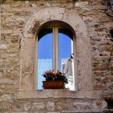 Rozszczepiony Chorwacja okno obraz stock
