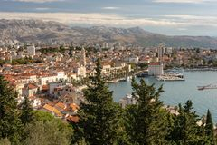 Rozszczepiony Chorwacja widok miasto zdjęcia stock