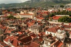 Rozszczepiony miasteczko w Chorwacja zdjęcia stock