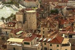 Rozszczepiony miasteczko w Chorwacja fotografia stock