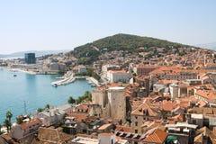 Rozszczepiony pejzaż miejski w Chorwacja Obraz Stock