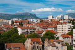 Rozszczepiony widok z lotu ptaka, Chorwacja Obraz Royalty Free
