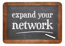 Rozszerza twój sieci rada na łupkowym blackboard Obraz Royalty Free