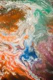 Rozszerzanie się barwiący atrament barwi na białym tle Obraz Stock