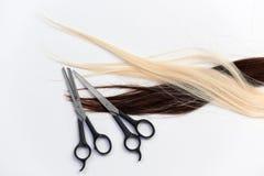 rozszerzenie włosy Fotografia Stock