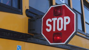 Rozszerzony autobus szkolny przerwy paddle zdjęcie wideo