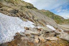 Roztapiający śnieg w lecie zdjęcia royalty free