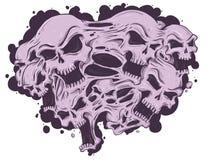 Roztapiające czaszki Ilustracja Wektor
