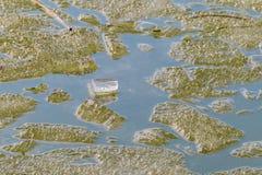 Roztapiający lód na wiosny jeziorze Obraz Royalty Free