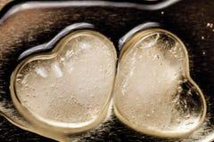 Roztapiający lodowaci serca Fotografia Royalty Free
