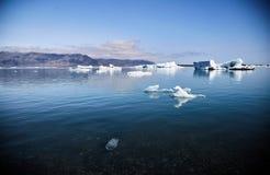 Roztapiający lodowiec w Iceland jasny obraz royalty free