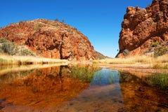 Roztoki Helen wąwóz, terytorium północne, Australia fotografia stock