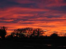 roztopionego niebo Fotografia Royalty Free
