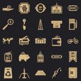 Roztropność ikony ustawiać, prosty styl royalty ilustracja