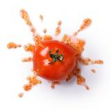 Roztrzaskanie pomidor Zdjęcia Royalty Free