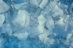 Roztrzaskany i krakingowy lód obraz royalty free
