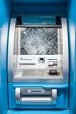 Roztrzaskujący ATM fotografia royalty free
