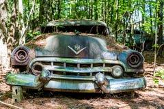 Roztrzaskujący Cadillac Obrazy Royalty Free