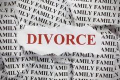 rozwód Obraz Stock