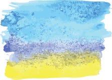 rozwód błękit i kolor żółty Fotografia Royalty Free