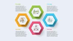 Rozwój biznesu mapy infographics z kroków okręgami Kółkowi korporacyjni linii czasu grafiki elementy Firmy prezentaci obruszenia  ilustracji