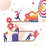 Rozwój Biznesu sukcesu osiągnięcia metafora royalty ilustracja