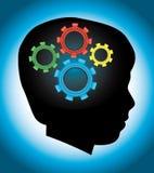 Rozwój Dziecka, edukacja, autyzm, sylwetka Obrazy Stock
