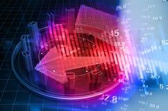 Rozwój gospodarczy syntetyczny tło ilustracja wektor