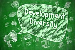 Rozwój różnorodność - Biznesowy pojęcie royalty ilustracja