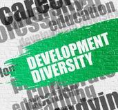 Rozwój różnorodność na ściana z cegieł ilustracji