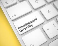 Rozwój różnorodność - tekst na Białym Klawiaturowym kluczu 3d royalty ilustracja