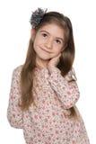 Rozważna ładna mała dziewczynka zdjęcia stock