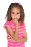 Rozważna ładna mała dziewczynka obrazy stock