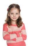 Rozważna ładna preschool dziewczyna obraz stock