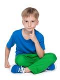 Rozważna śliczna chłopiec obrazy stock