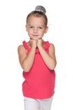 Rozważna urocza mała dziewczynka Zdjęcia Stock